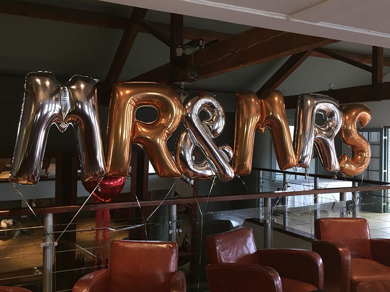 large balloon letters
