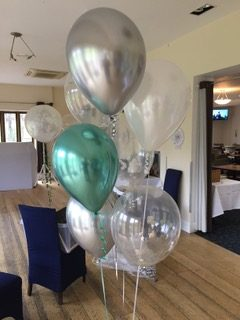party balloon arrangement